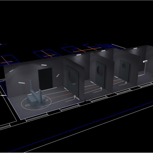 Lighting design of dark room for goniophotometer