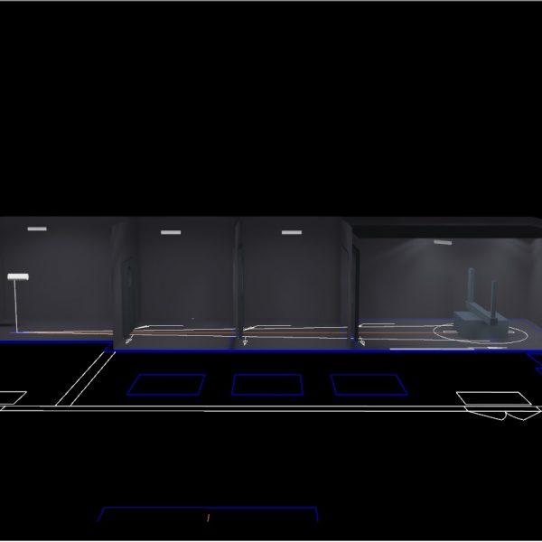 Lighting design of dark room for goniophotometer