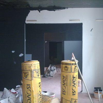 Black matte paint on walls