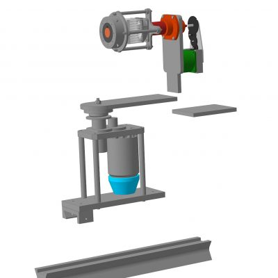 3D model of future goniophotometer made in Kompas 3D
